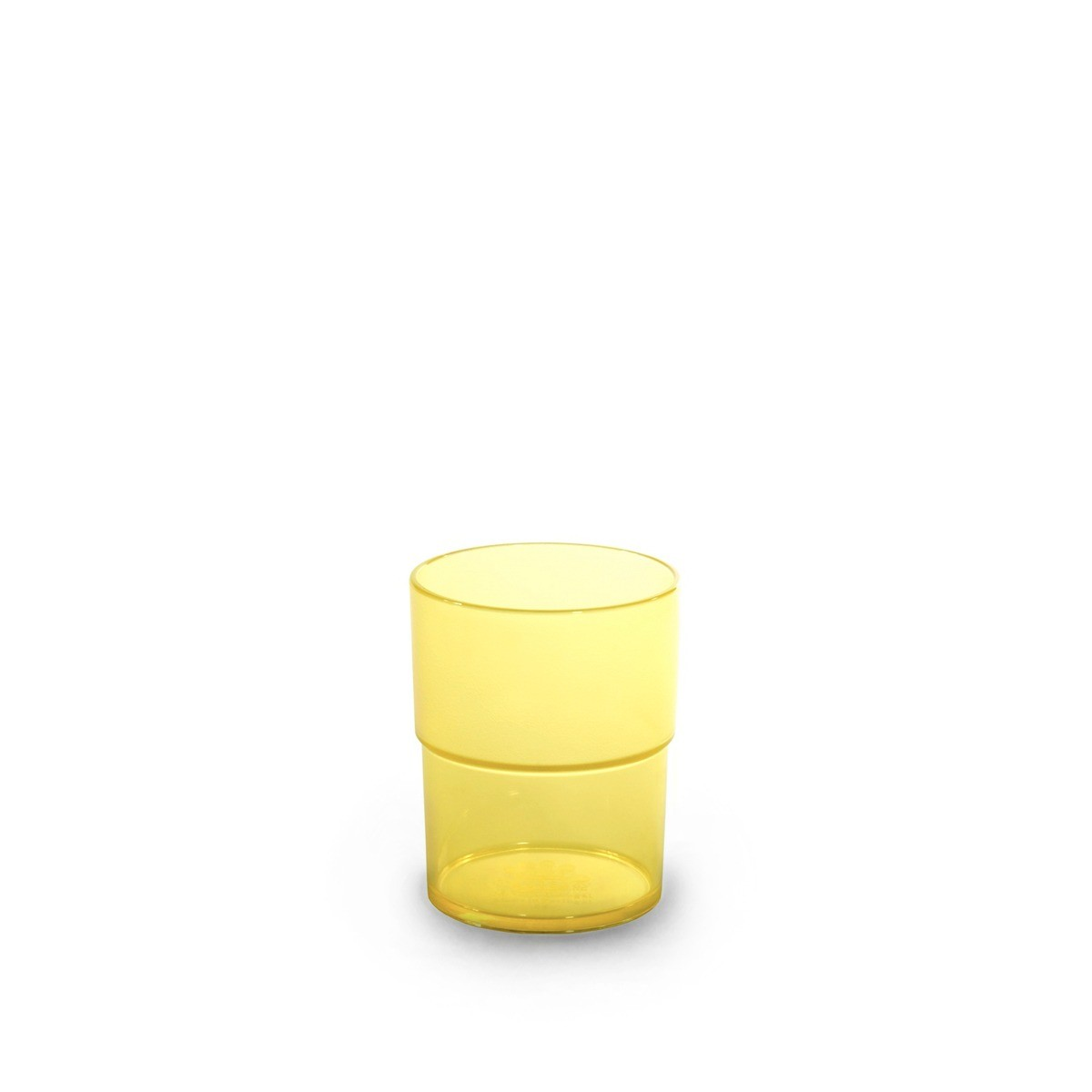 Gobelet jaune incassable et personnalisable.