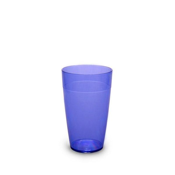 Grand gobelet bleu incassable et personnalisable.