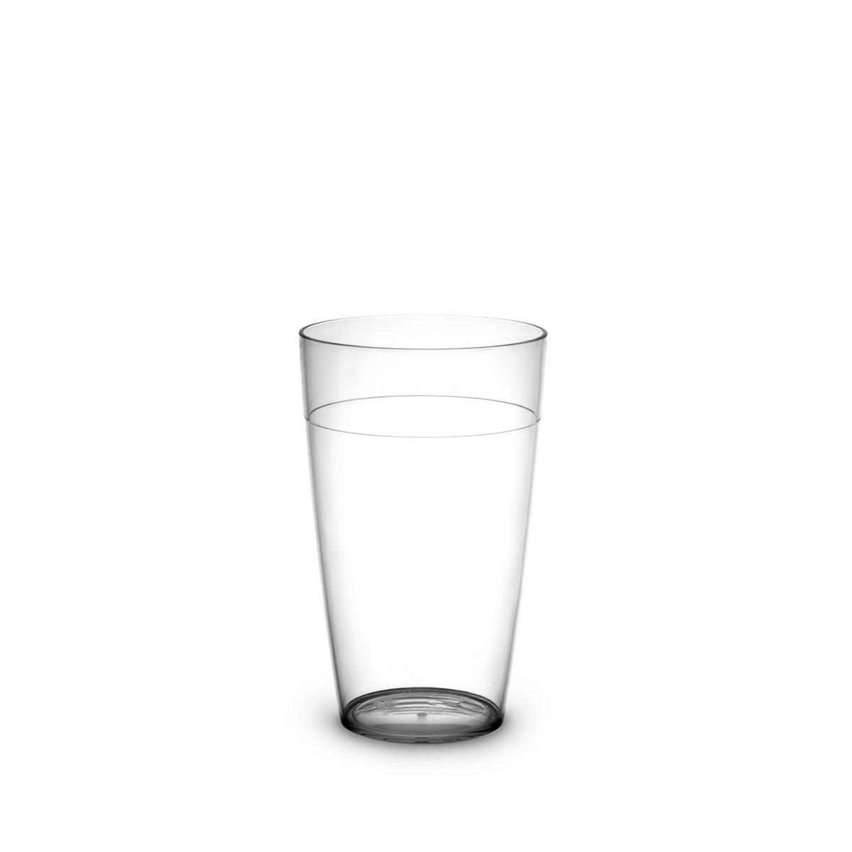 Gobelet transparent incassable et personnalisable.