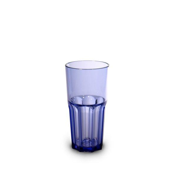 Verre rétro bleu incassable et personnalisable.