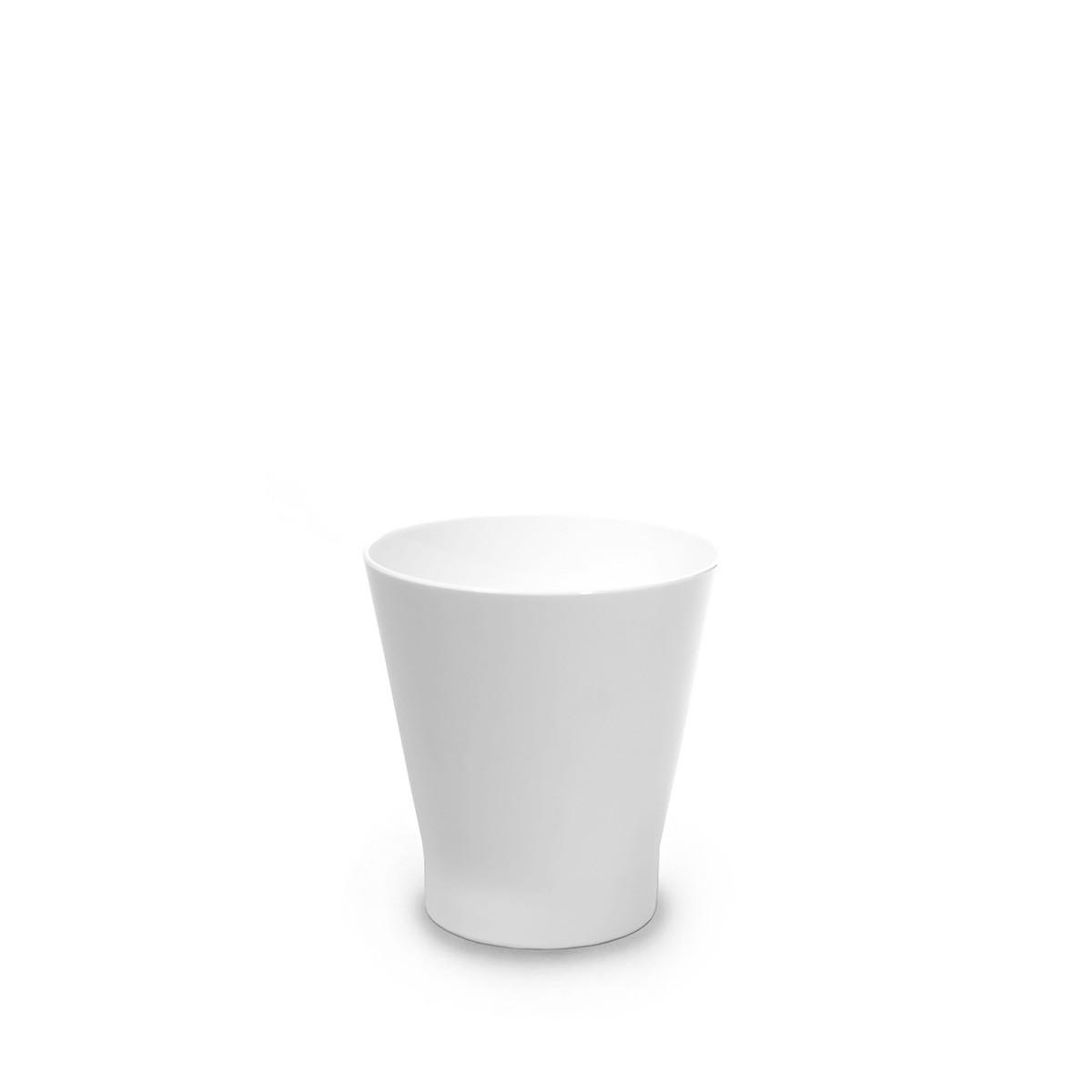 Verre à cocktail blanc incassable et personnalisable.