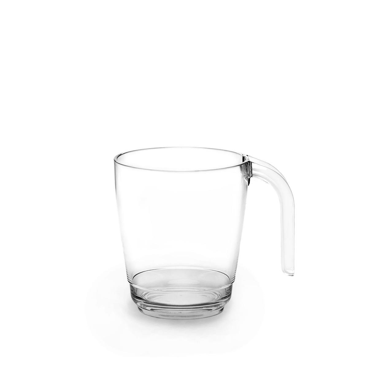 Mug transparent incassable et personnalisable. Devis ici.