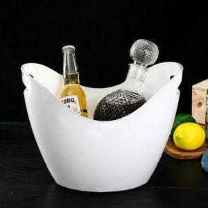 Seau à champagne blanc. Disponible en plusieurs coloris.