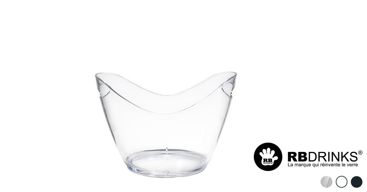 seau champagne transparent 3 5l personnalisable rbdrinks. Black Bedroom Furniture Sets. Home Design Ideas