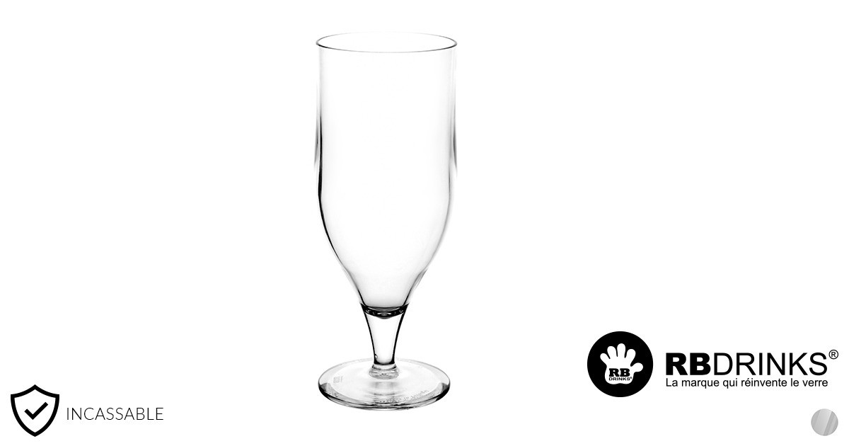 verre tulipe transparent incassable 33cl rbdrinks. Black Bedroom Furniture Sets. Home Design Ideas