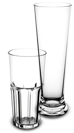 Verre transparent incassable et personnalisable | RBDRINKS®
