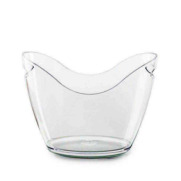 Vasque à champagne transparente et personnalisable.