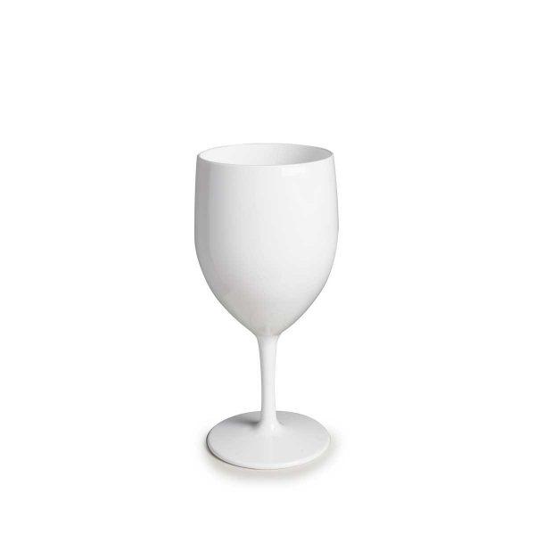 Verre à eau blanc incassable et personnalisable.