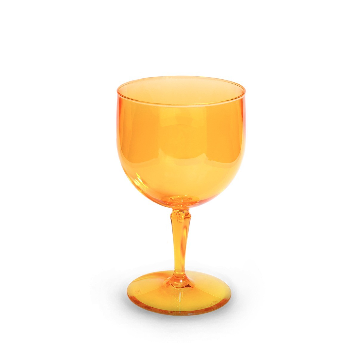 Verre piscine orange incassable et personnalisable.