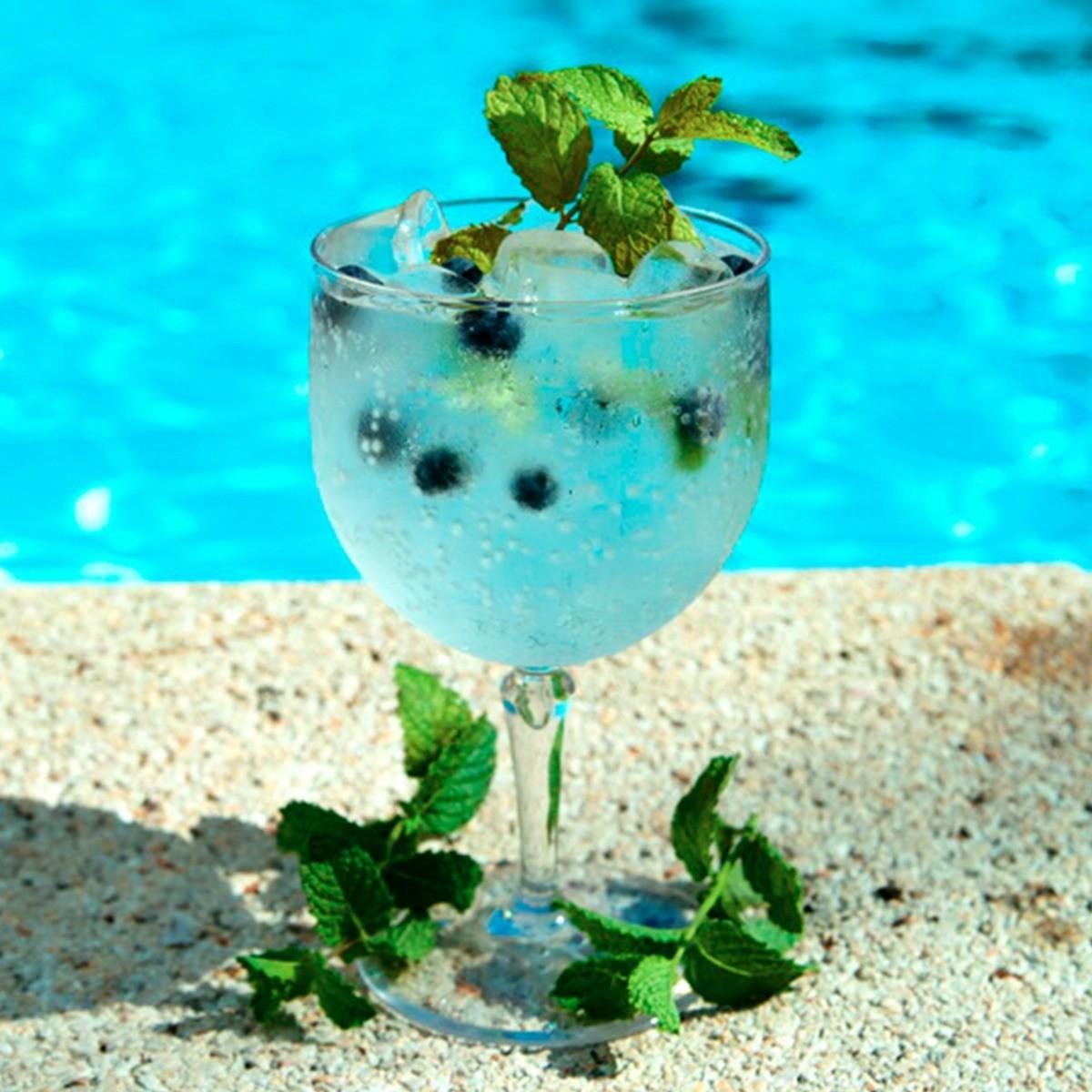 Verre piscine transparent incassable et personnalisable 67cl rbdrinks - Verre pile piscine ...