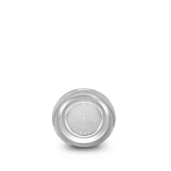 Petite assiette transparente incassable et personnalisable avec votre logo.